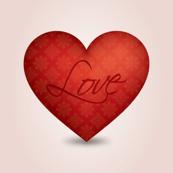 Ornament Print Valentine Heart - Free vector #349215