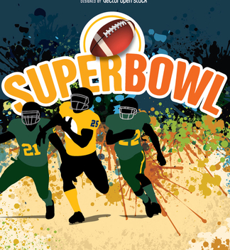 Super Bow American Football players - vector gratuit #349395