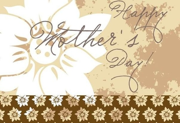 Floral Grunge Mothers Day Card - vector gratuit #349465