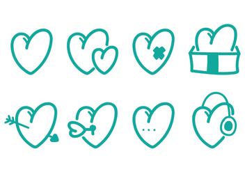 Heart Icon Set - Kostenloses vector #349485