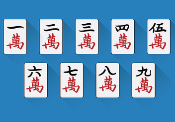 Chinese Mahjong Vector - vector gratuit #349505