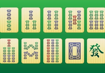 Mahjong Pieces 2nd pack - Vector - Free vector #349585