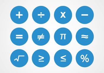 Math Symbols Vectors - Free vector #349605