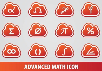 Advanced Math Icon Vectors - Kostenloses vector #349865