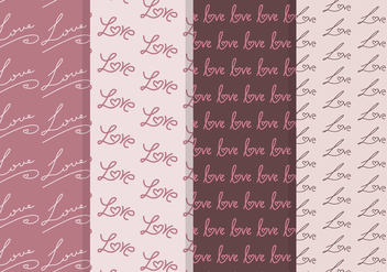 Vector Love Seamless Patterns - Free vector #349975