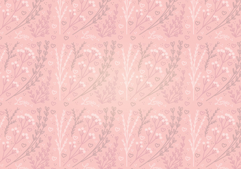 Vector Pink Heart Floral Seamless Pattern - Free vector #349995