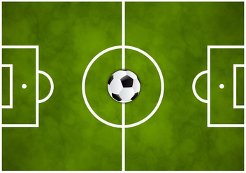 Free Soccer Green Field Vector - Free vector #350055
