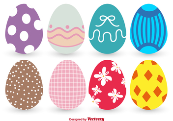Colorful Easter Egg Vectors - Free vector #350085