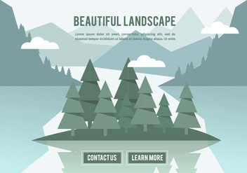 Free Beautiful Landscape Vector Backround - бесплатный vector #350375