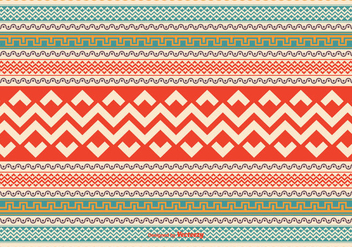 Colorful Aztec Style Pattern Vector Background - Free vector #350505