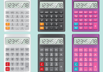 Calculator Vectors - vector gratuit #350545