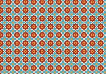 Floral Mosaic Pattern Vector - Free vector #350625