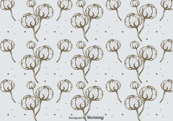 Hand Drawn Cotton Pattern Background - Kostenloses vector #350665