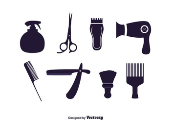 Vector Set of Barber Tools - Free vector #350675