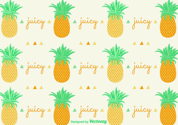Ananas Pineapple Pattern Background - vector gratuit #350705