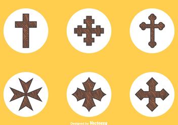 Free Wooden Crosses Vector - Kostenloses vector #350835