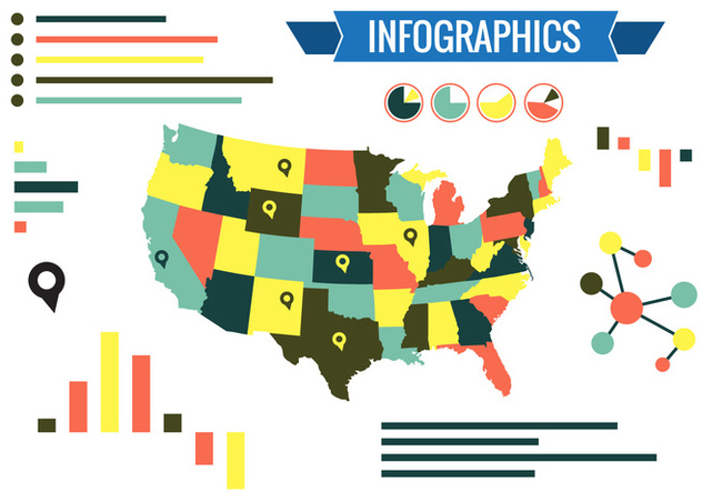 States Infographics Vector - Kostenloses vector #350875