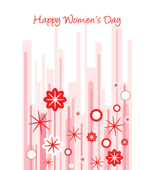 Abstract Women's Day Card - Free vector #351015