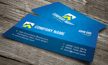 Blue Pixel Texture Business Card - vector #351115 gratis