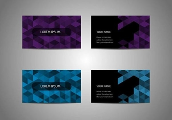Origami Pixel Business Cards - vector gratuit #351365