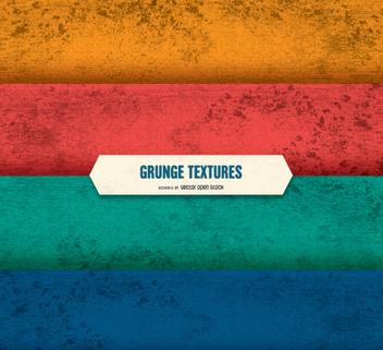 Grunge Texture set - Kostenloses vector #351435