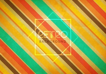 Colorful Diagonal Lines Retro Background - vector #351475 gratis