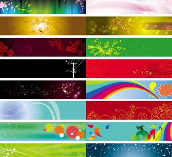 Colorful Large Banner Collection - vector gratuit #351505