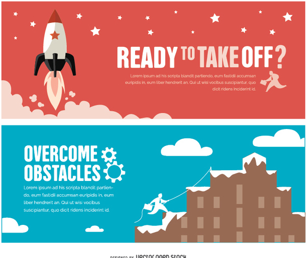 Success motivational banners - Free vector #351515