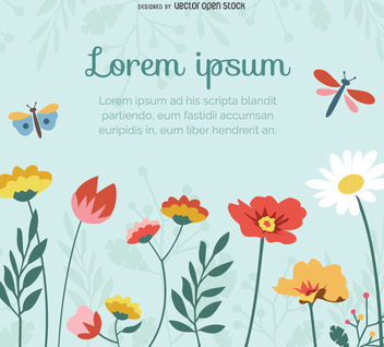 Beautiful floral background - Free vector #351595