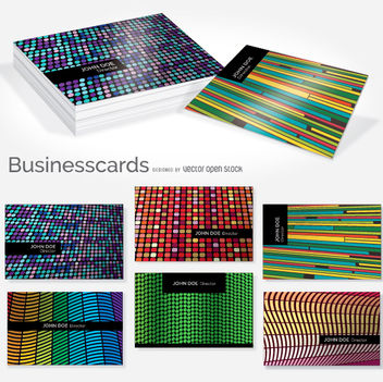 Creative colorful business card set - vector #351645 gratis