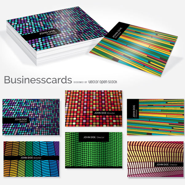 Creative colorful business card set - vector gratuit #351645