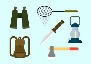Vector Set of Camping Elements - vector #351735 gratis