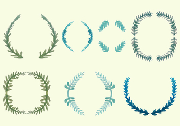 Free Olive Wreath Vector Pack - Free vector #351785