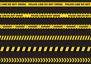 Vector Police Line - Free vector #351945