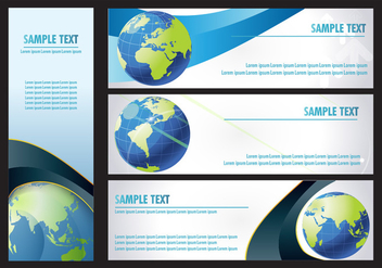 Globe grid Banner - Free vector #352005