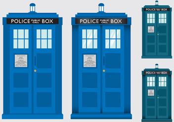 Police Box Tardis Vectors - Kostenloses vector #352015