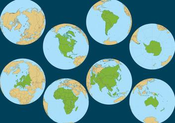 Globe Continent Vectors - Free vector #352055