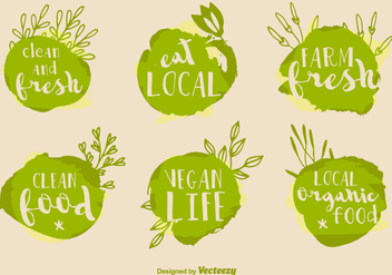 Healthy Food Vector Signs - Free vector #352205