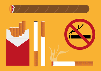 Cigarette Pack Illustrations Vector - Kostenloses vector #352225