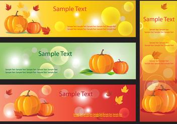 Pumpkin Banner Vectors - Free vector #352255