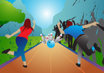 Bowling Game Vector - Free vector #352415