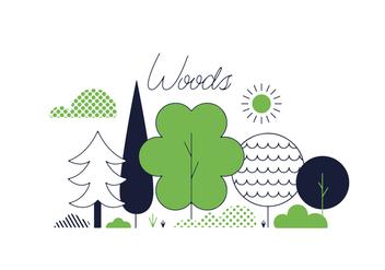 Free Woods Vector - Free vector #352465