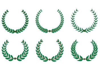 Olive Wreath Vector - Free vector #352525
