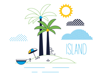 Free Island Vector - Free vector #352545