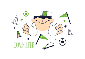 Free Goal Keeper Vector - Free vector #352565