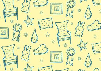 Kids Room Pattern - Free vector #352715
