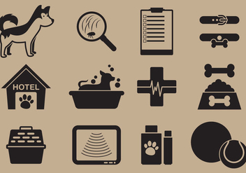 Pet Care Icon Vectors - vector #352825 gratis