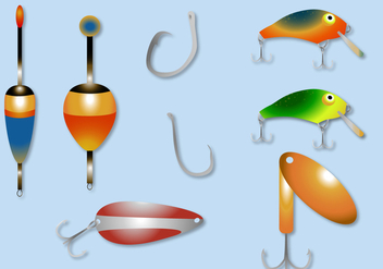 Free Fishing Lure Vector - Kostenloses vector #352845