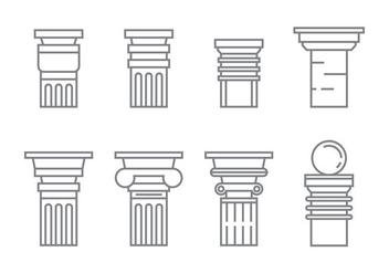 Free Roman Pillar Vector Icons #1 - бесплатный vector #352995