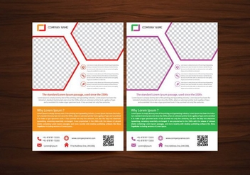Vector Brochure Flyer design Layout template in A4 size - vector #353055 gratis